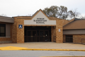 Homan Elementary School front entrance