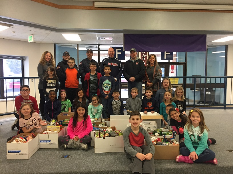 Students collected food for food drive